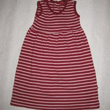 5-7 лет, платье в полоску трикотажное