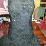 Красивое вечернее платье с блестками
