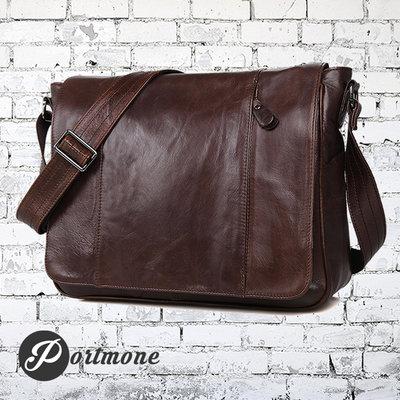 Мужская сумка Мессенджер Почтальон из натуральной кожи