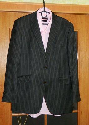 Пиджак мужской серый со светло-белой полосочкой р. 50-52 Savilerow