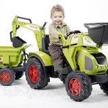 Педальный трактор с прицепом и двумя ковшами Falk 1010W CLAAS AXOS