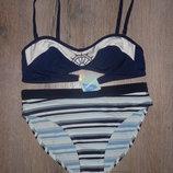 14/46 Blue Motion Стильный купальник бандо в морском стиле Новый