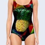 Цельный купальник 3D Pineapple geometry Большой выбор
