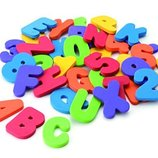 Munchkin Стикеры цифры и алфавит для купания из Сша Letters and Numbers Bath Toys 36 Count