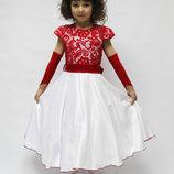 Продам элегантное выпускное платье Красный гипюр