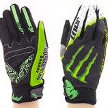 Мотоперчатки текстильные с закрытыми пальцами Monster 3904 текстиль, XL