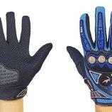 Мотоперчатки текстильные с закрытыми пальцами и протектором Fire MCS-23 текстиль, M-XL