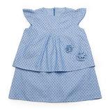 Платье летнее детское, хлопок - Деним-Звезды