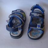 Сандалии на мальчика открытые Мм90 синие 26-31р.