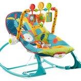 Fisher-Price кресло-качалка шезлонг сафари 2 в 1 Infant To Toddler Rocker, Dark Safari