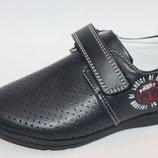 Детские туфли с перфорацией бренда Tom.m для мальчиков рр. с 27 по 32