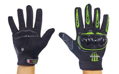 Мотоперчатки текстильные с закрытыми пальцами и протектором Monster 4542 размер M-XL