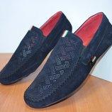 Летние кожаные туфли.мокасины