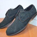 Летние замшевые туфли.Мужские кожаные туфли.
