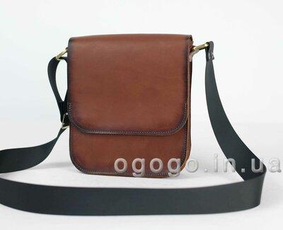 14fef8a7d299 Кожа. Ручная работа. Кожаная коричневая мужская сумка через плечо. Барсетка.