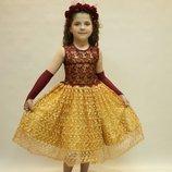 Шикарное новое гипюровое платье.