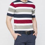 Мужская футболка LC Waikiki в бело-красно-серо-синие полоски