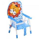 Детский стульчик для кормления GL 217С. Розовый и голубой
