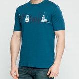 Мужская футболка LC Waikiki цвета морской волны с надписью на груди Istanbul
