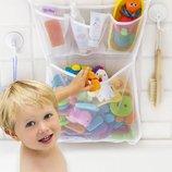 Органайзер для детских игрушек на присосках в ванную