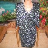 новое праздничное платье с тигровым принтом р 14 р 48-52