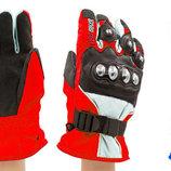 Мотоперчатки теплые текстильные с закрытыми пальцами Pro Biker 4318 3 цвета, M-XL