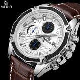 Мужские классические наручные часы Megir Techno/ Супер цена