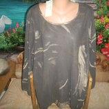 Lazy lu шифоновая новая блузка очень большой размер р 30