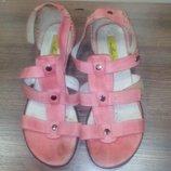 Кожаные фирменые босоножки, сандалии LEmar Польша