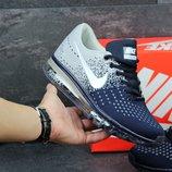 Кроссовки Nike Flyknit Max Gray blue