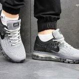 Кроссовки Nike Flyknit Max Gray black