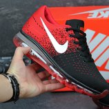 Кроссовки Nike Flyknit Max Black red