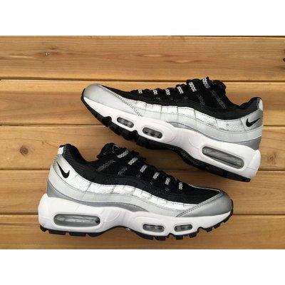 Кроссовки женские Nike Air Max 95 серебро белые черные