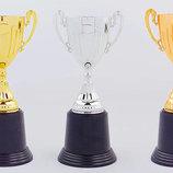 Кубок спортивный с ручками 4522, 3 цвета размер 22см