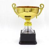 Кубок спортивный с ручками Crystal C-A2176B металл пластик, высота 21см