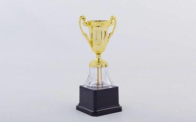 Кубок спортивный с ручками YK013 металл пластик, высота 19см