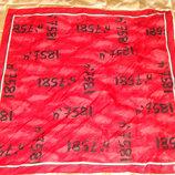 мотокросс бандана платок Cecil красный оригинал хлопок 50Х51 идеал Hermes Chanel косынка