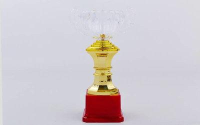 Кубок спортивный с ручками C-895-3 пластик, высота 23см