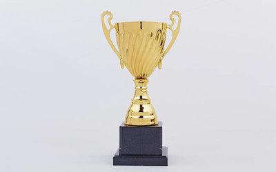 Кубок спортивный с ручками C-3019C металл пластик, высота 28см