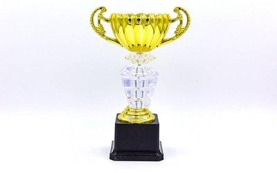 Кубок спортивный с ручками Premium C-139B пластик, высота 23см