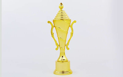 Кубок спортивный с ручками и крышкой Ability C-9696B пластик, высота 40см