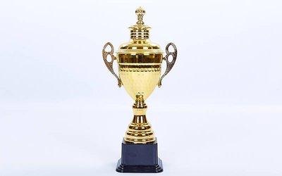 Кубок спортивный с ручками и крышкой Grand C-1506D пластик, высота 36см