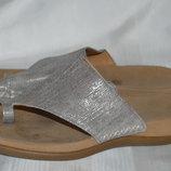 Шльопки шльопанці шкіра Gabor розмір 37 38, шлепки кожа