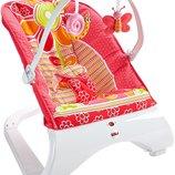 Fisher-Price кресло качалка шезлонг конфетти Comfort Curve Bouncer Floral Confetti
