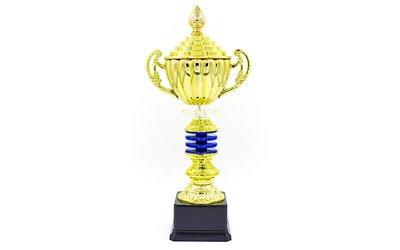 Кубок спортивный с ручками и крышкой Impulse C-141A, золото пластик, высота 35см