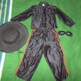 костюм зорро на 2-4 года
