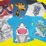 Пакет брендовых футболок на 6-8 лет,рост 122-128 см,Next