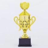 Кубок спортивный, крышкой и местом под жетон Flash C-866A, золото пластик, высота 32,5см