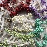 Тычинки матовые на нитке 25н Цвета в ассортименте