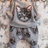 Симпатичный спортивный костюм Котики на деток 1, 2, 3, 4 года